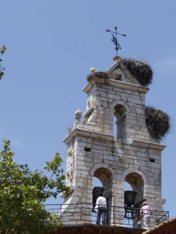 Campanario de la iglesia de Sariegos