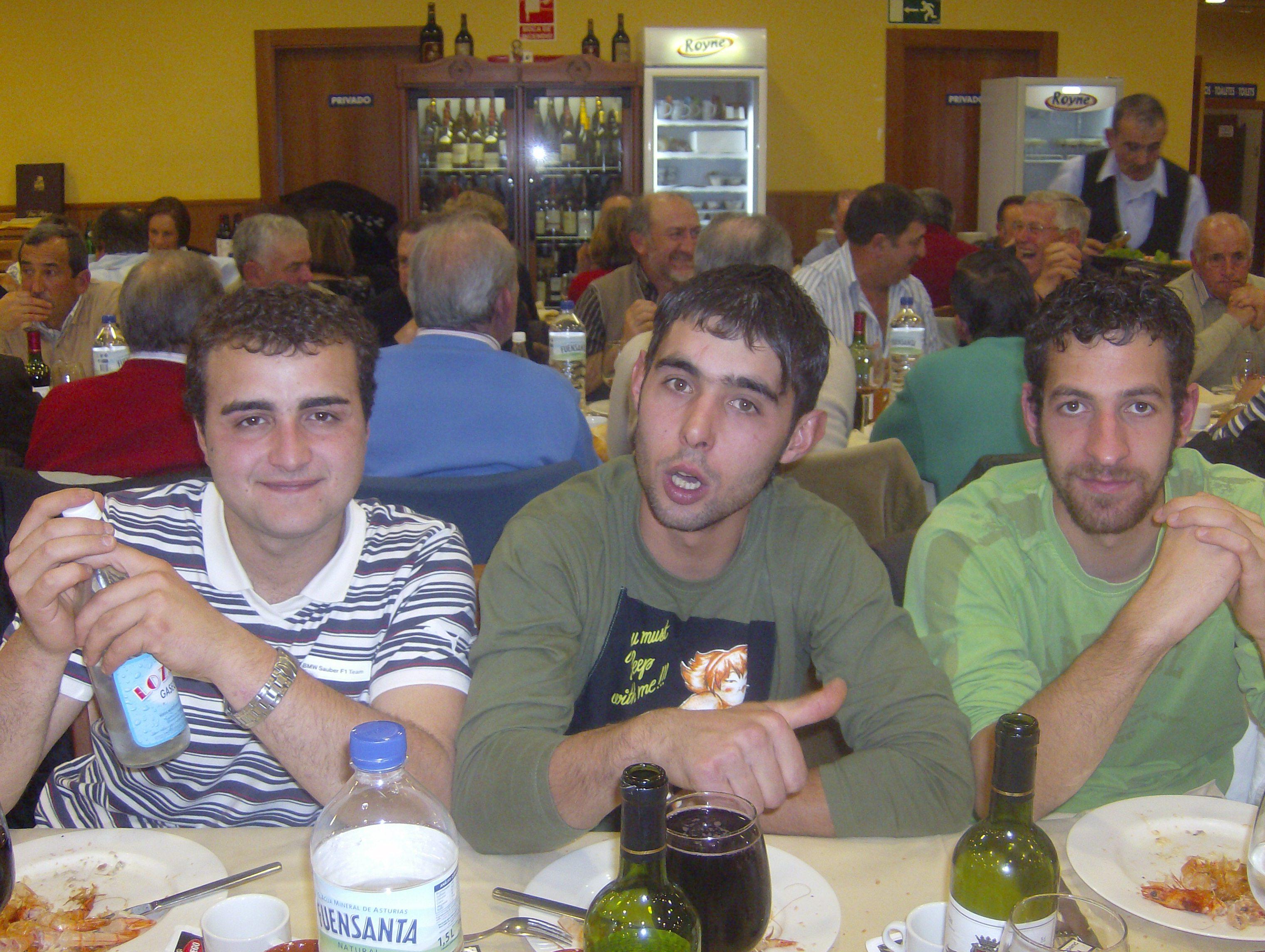 Iván, Óscar y Andrés