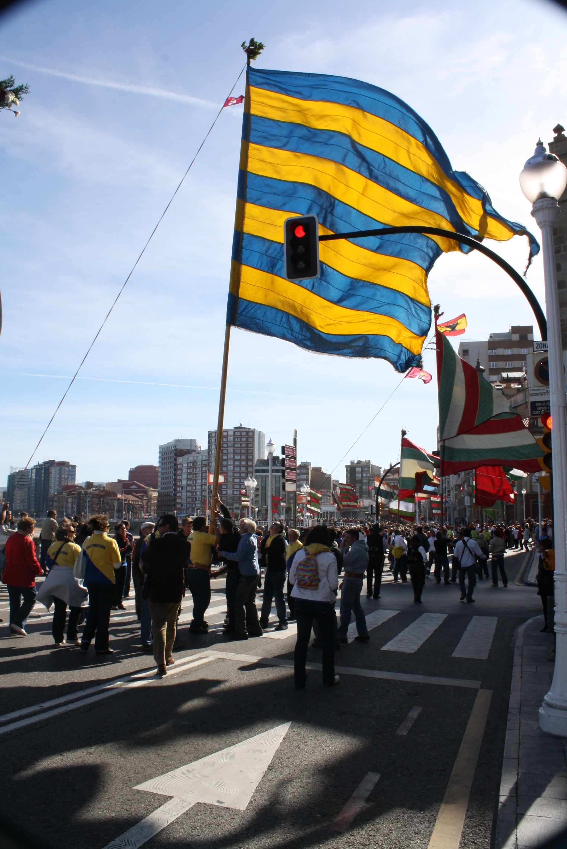 El pendón de Castrocalbón en Gijón