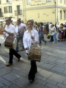 Llegando a la plaza de Don Gutierre